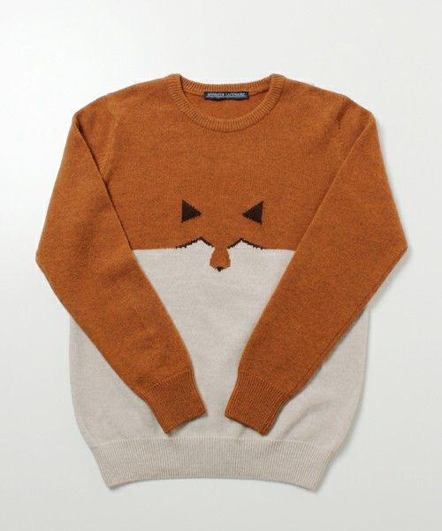 International Gallery BEAMSのMONSIEUR LACENAIRE / FOXクルーネックニットです。こちらの商品はBEAMS Online Shopにて通販購入可能です。