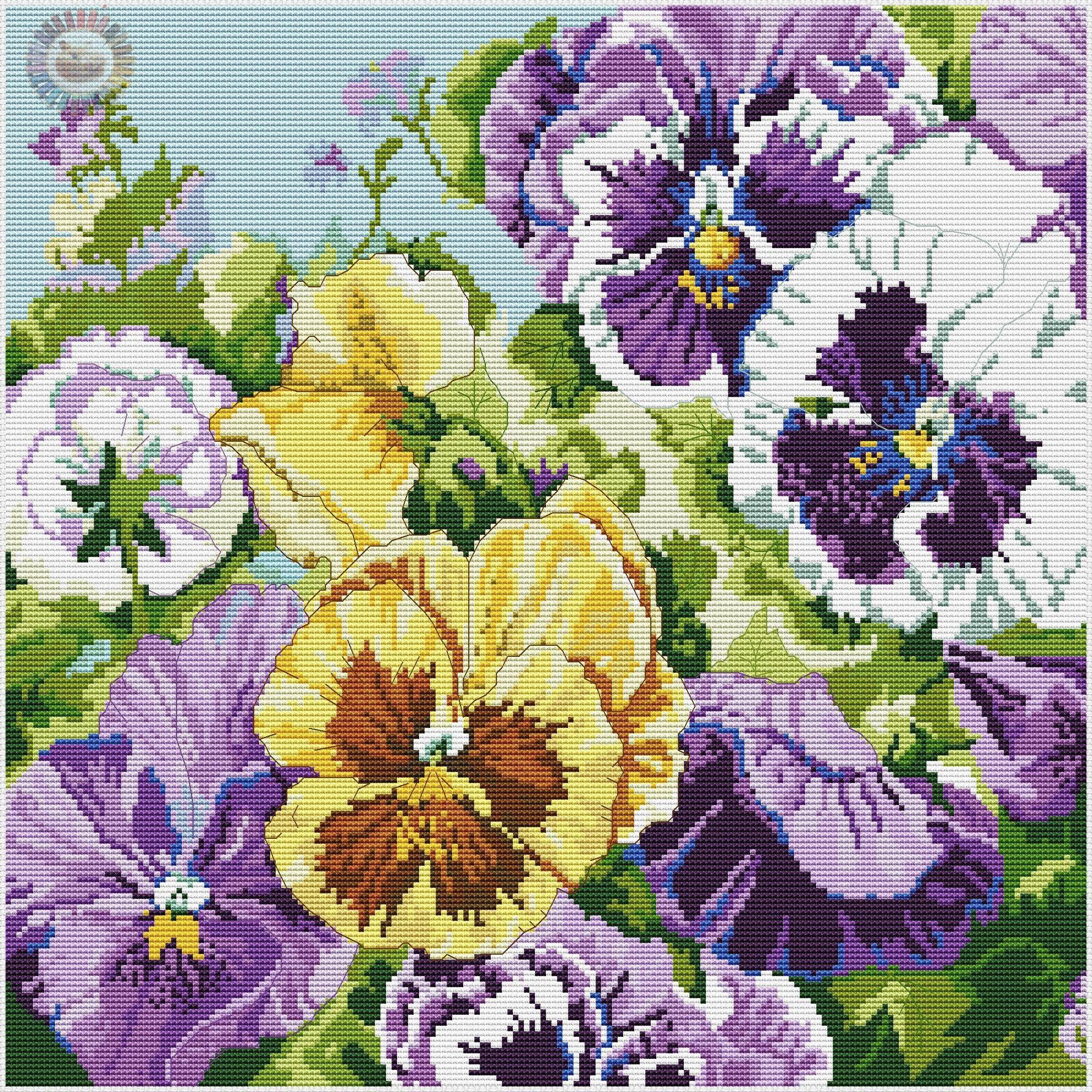 GZsqItgVSv0.jpg (1980×1980) | Цветы, вышитые крестиком ...