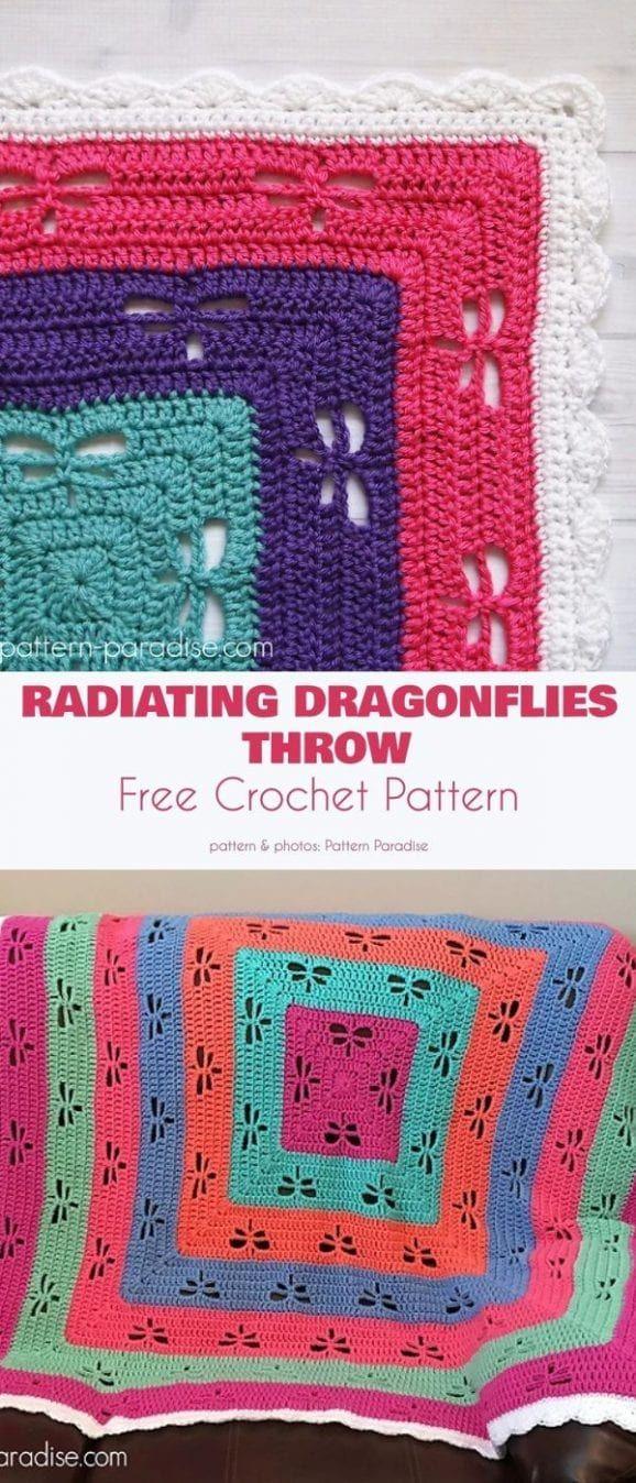 Amazing Dragonfly Blanket Free Crochet Patterns