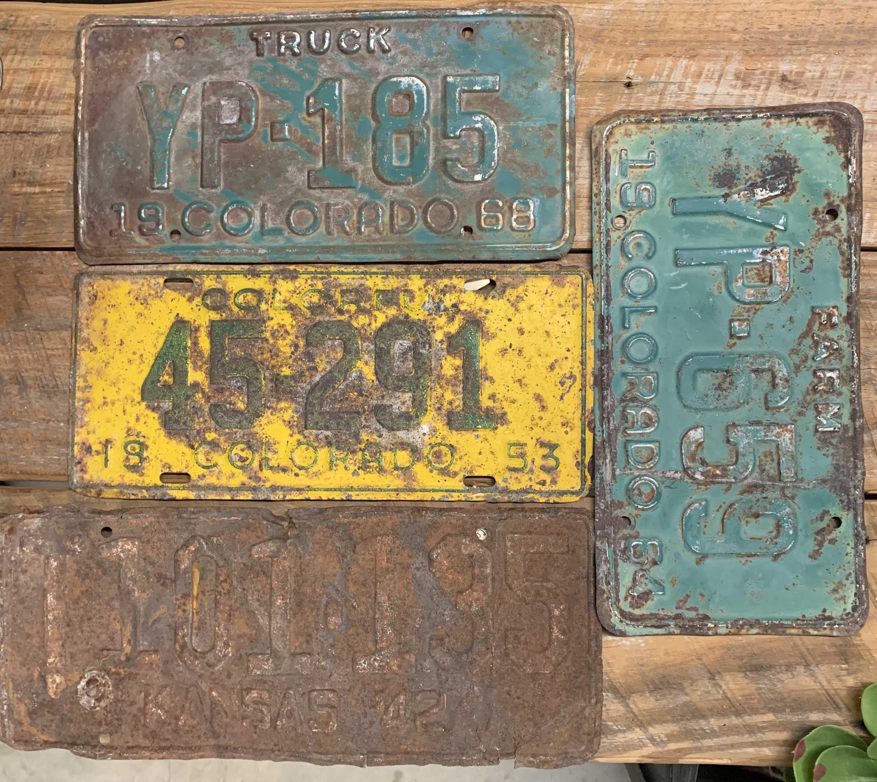 Vintage License Plates On Sale 10 to 25 Each Vintage