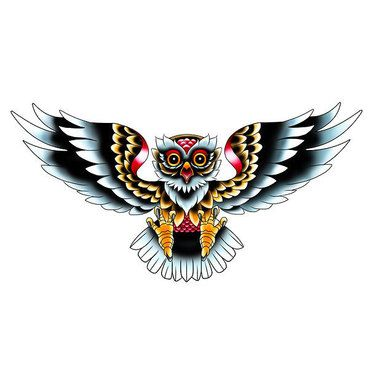 Old School Owl Tattoo Design Tatuajes Tatuaje Neotradicional