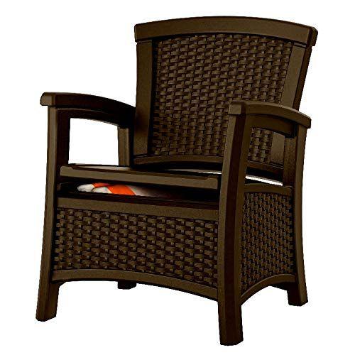 Patio Chair Ghy Outdoor Chair Cushion Storage Box Java Club Arm