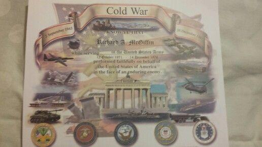 Cold War Certificate | Berlin Brigade | Pinterest | Cold war
