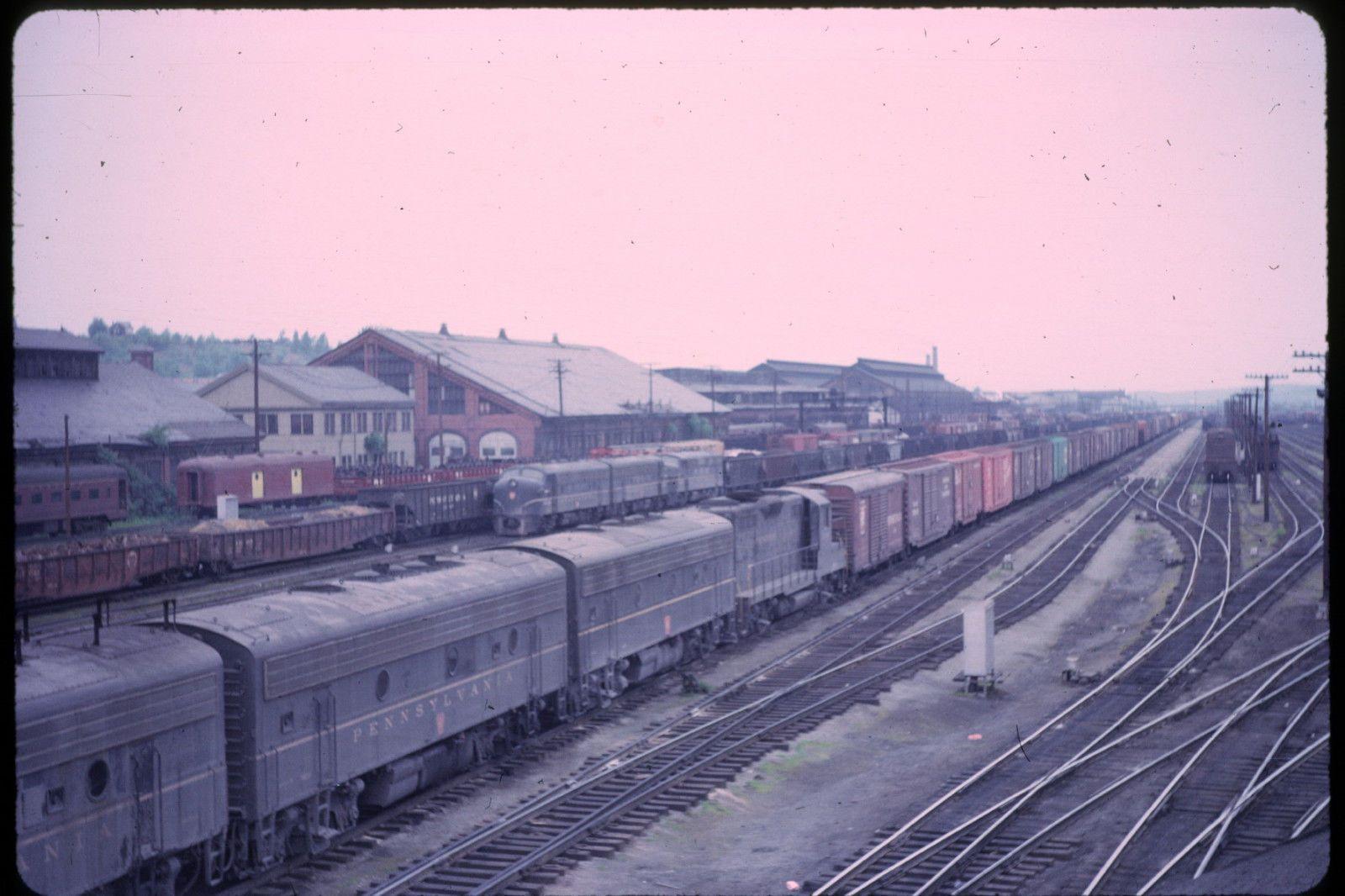 Pennsylvania Railroad Shops And Yard About 1960 Railroad