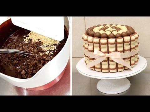 Simple Chocolate Decoration Cake - Microwave Chocolate Tempering - YouTube