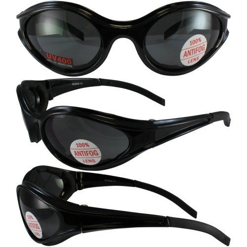 Global Vision Windmaster Motorcycle Glasses Black Frame//Yellow Lens