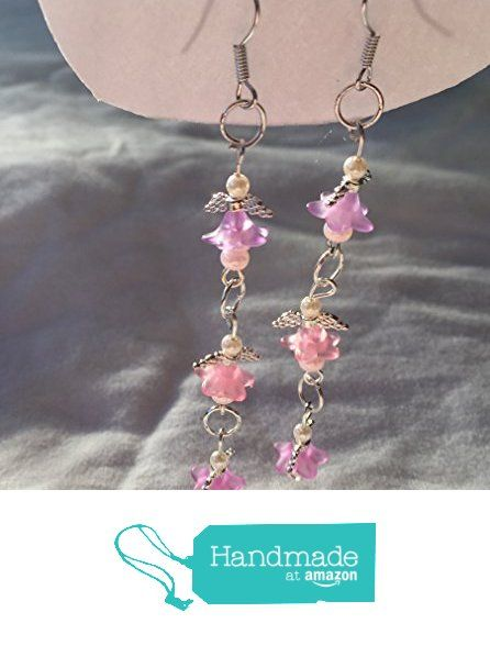 Pink and Pearl Pearls and Flowers Triple Angel Earrings from Southern Women Crafts https://www.amazon.com/dp/B01N21V6ZH/ref=hnd_sw_r_pi_dp_enoEybPSFB7M5 #handmadeatamazon