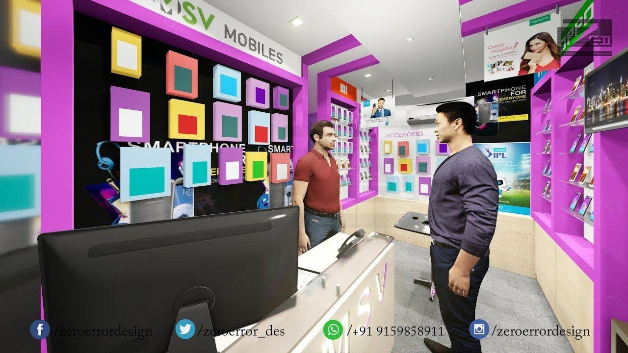 Mobile Shop Interior Design Walk Through Video