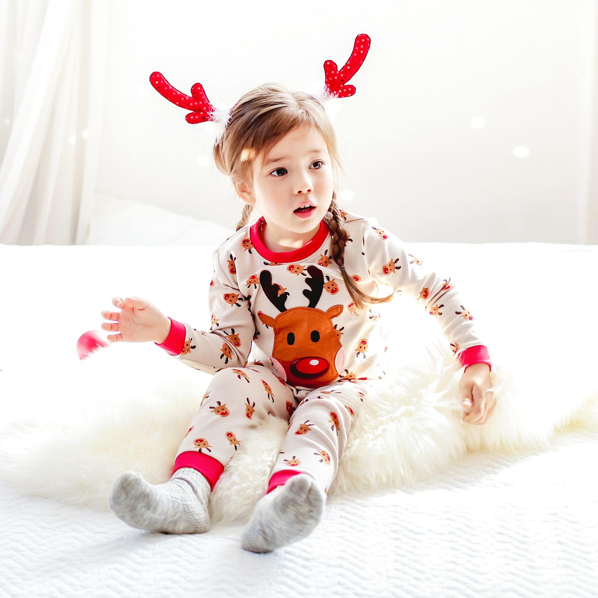 Vaenait Baby Toddler Kids Clothes Christmas Sleepwear Set