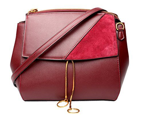 84525c9e98c HESHE Womens Leather Handbags Shoulder Bag Ladies Designer Purse Cross Body  Bags
