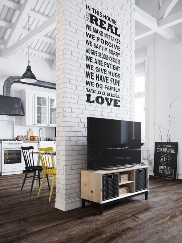 Mini loft con soppalco a praga nel 2019 interior design for Appartamento design industriale