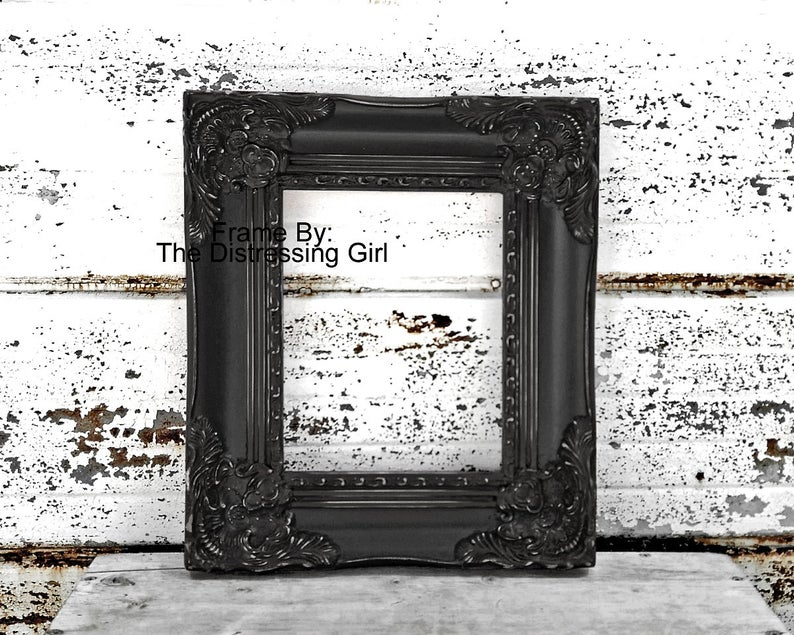 8x10 Ornate Black Frame 8 X 10 Chunky Thick Elaborate Picture Etsy Ornate Picture Frames Shabby Chic Frames Frame