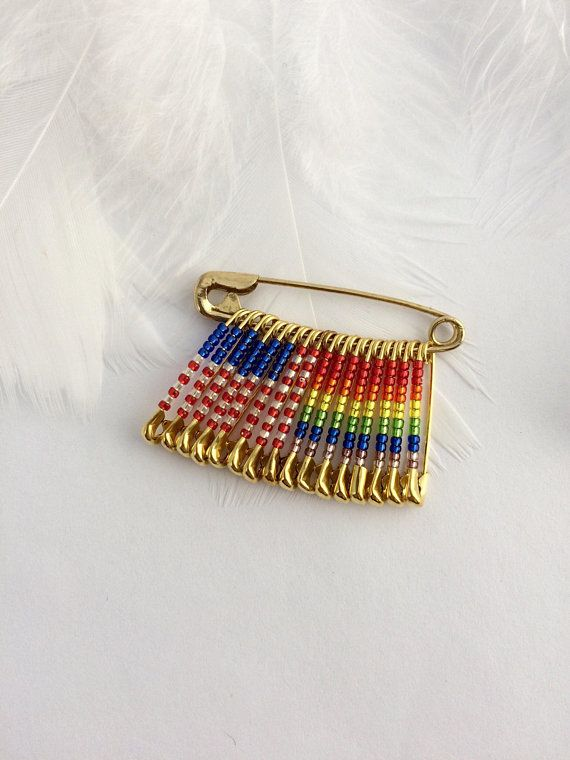 US Pride Pin Rainbow Handmade Gift For Her Him Safety Lapel Gay USA Pi