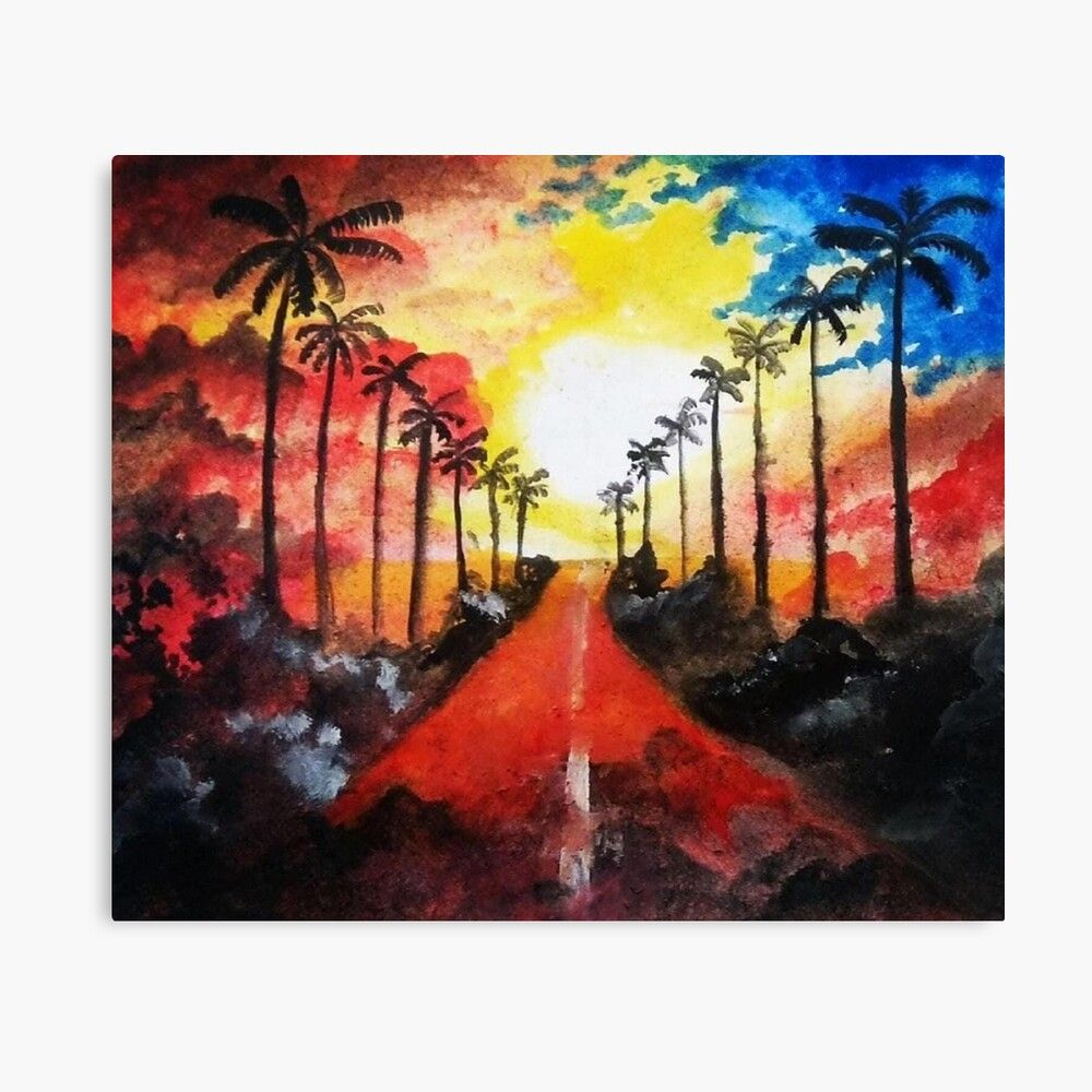 Want to create a beautiful art ? If yes, then look at this and create it now or you want this landscape to be present on your walls, t-shirts,blankets,pillows,etc ,then visit the link . #beautiful #beautifulpaintings #art #paintings #landscapepaintings #landscapeart #canvasprints #artprints #redbubble