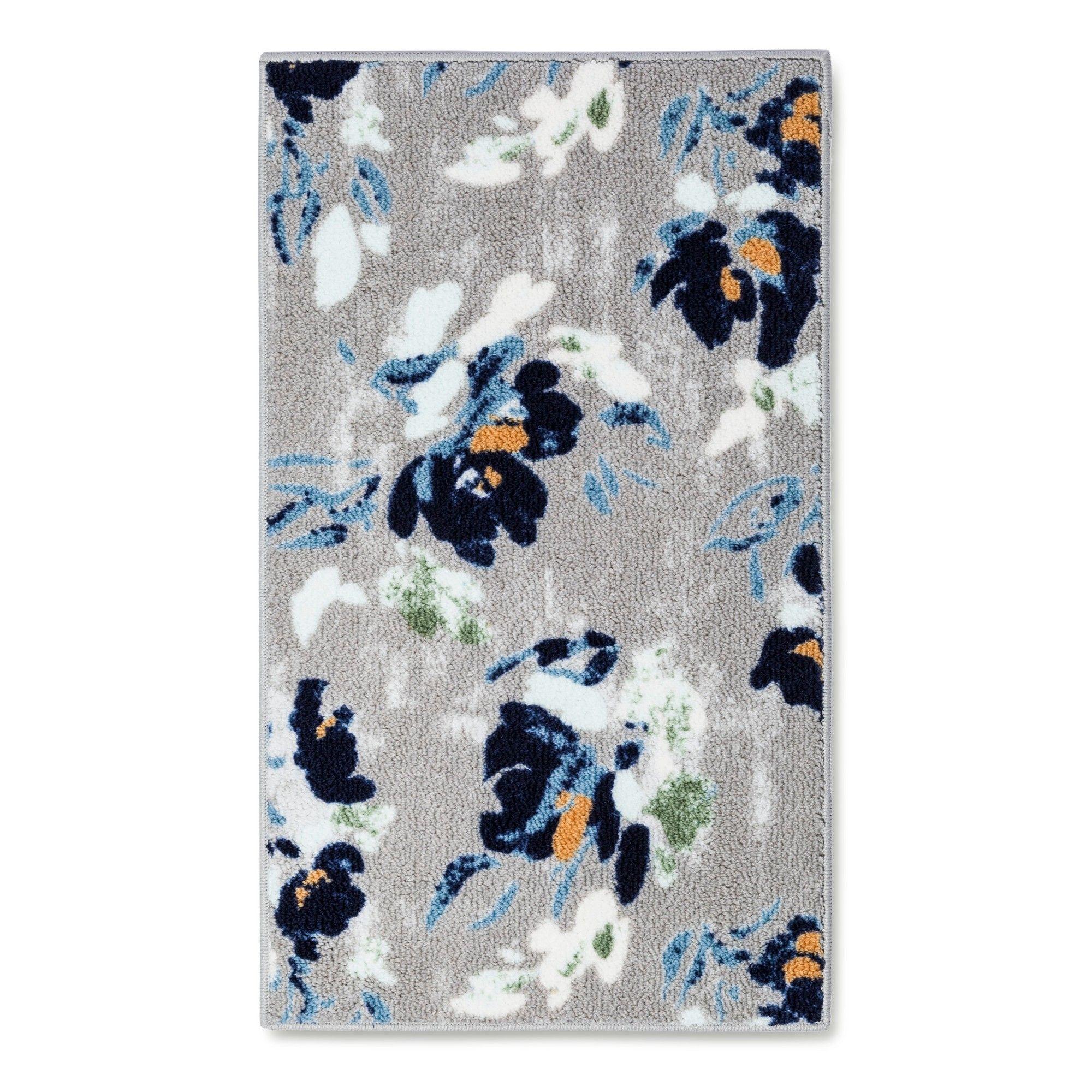 "Kitchen Rug Cool Floral Blue (20""X45"") - Threshold"