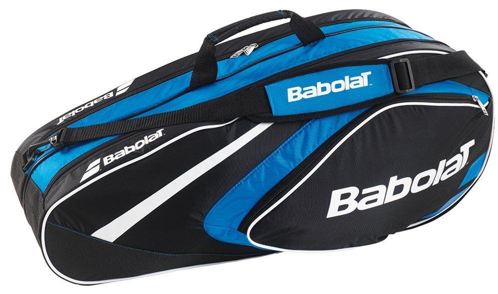 Amazon Com Babolat Club Line 6 Racquet Bag Black Blue Sports Outdoors Tennis Bags Racquet Bag Tennis Backpack