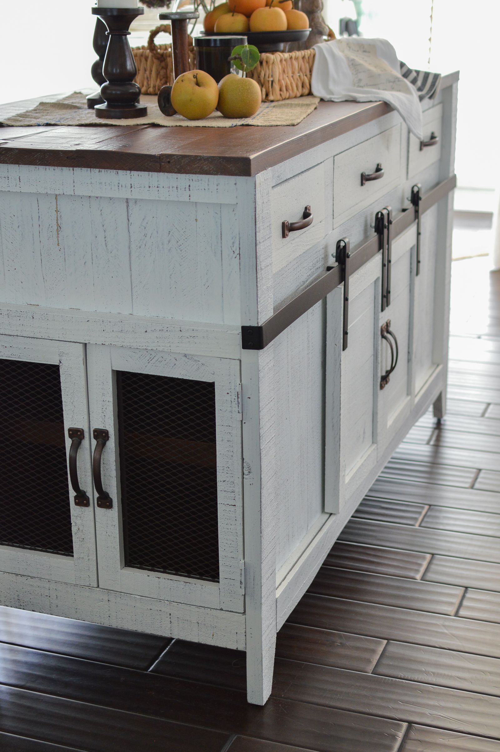 How To Make Your Own Kitchen Island The Diy Life Barn Door Console Diy Furniture Plans Diy Sliding Door
