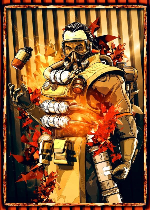 "Apex Legends Character Portraits Caustic #Displate explore Pinterest""> #Displate artwork by artist ""SyanArt"". Part… 