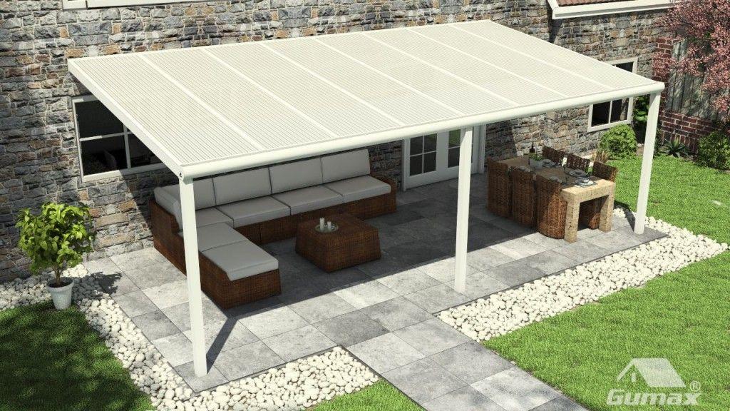 Gumax terrasoverkapping met polycarbonaat dak Appentis pour