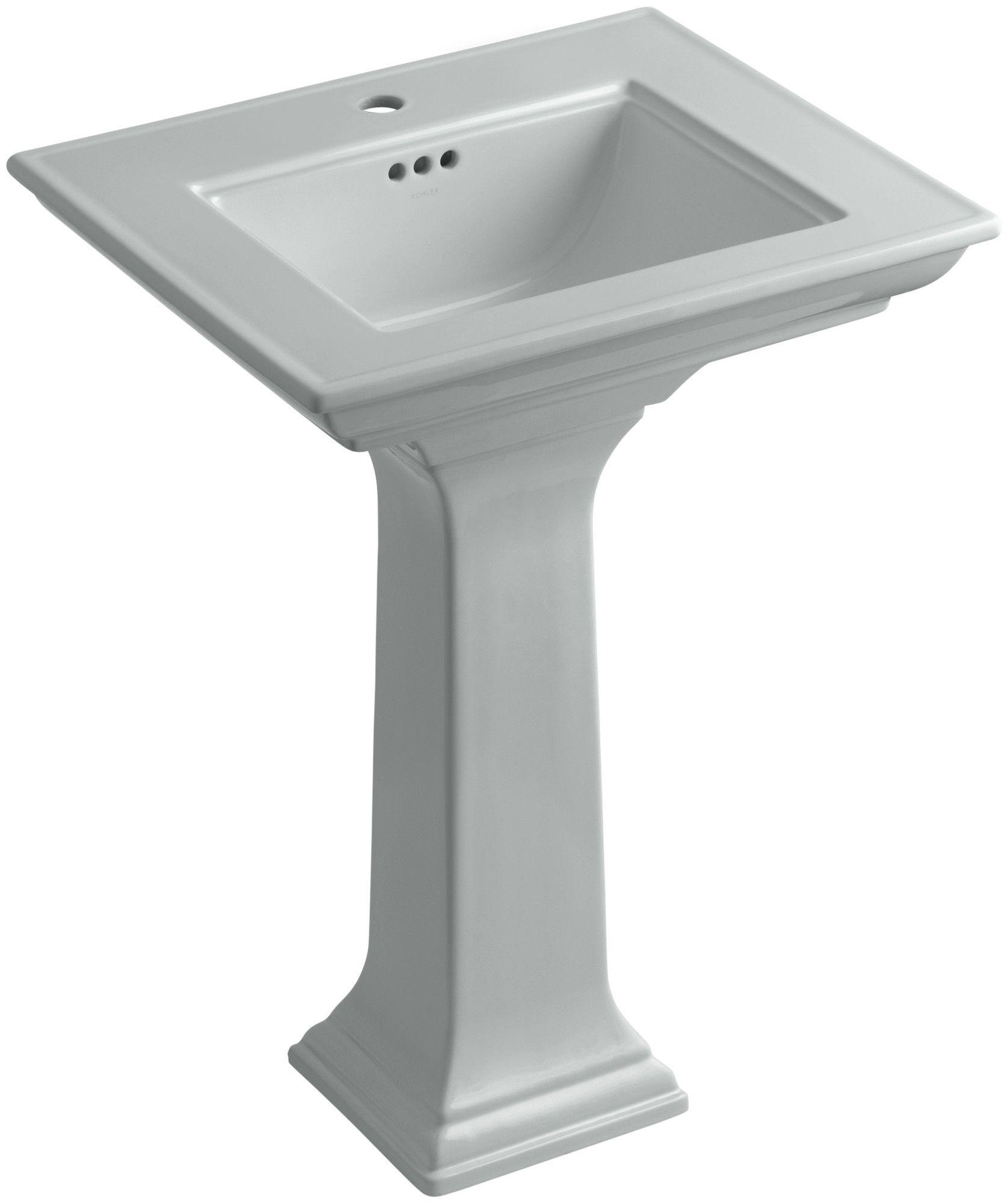 Memoirs Ceramic 25 Pedestal Bathroom Sink With Overflow