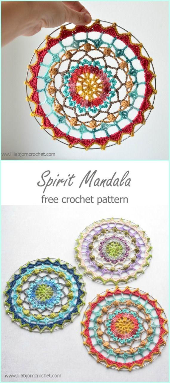 Crochet Spirit Mandala Free Pattern -Crochet Dream Catcher Free ...