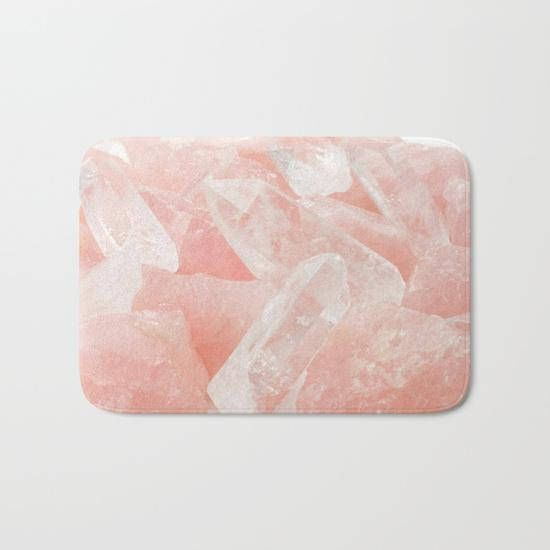 blush pink rose quartz bath mat pink bath mat pretty college dorm