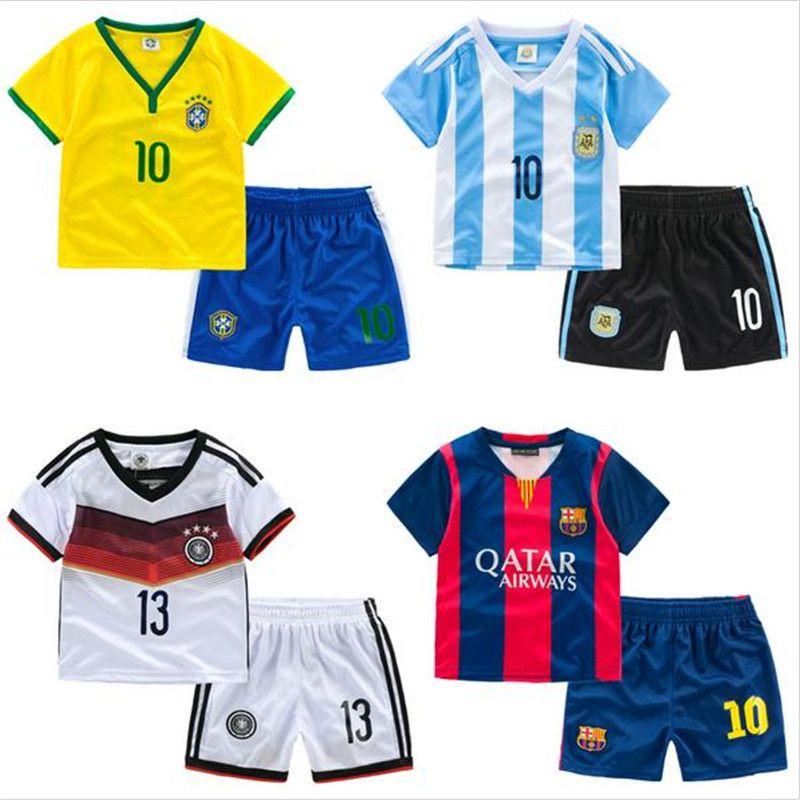 b2315a4060038 Aliexpress.com  Comprar Moda de bebé transpirable ropa de fútbol los niños  determinados de
