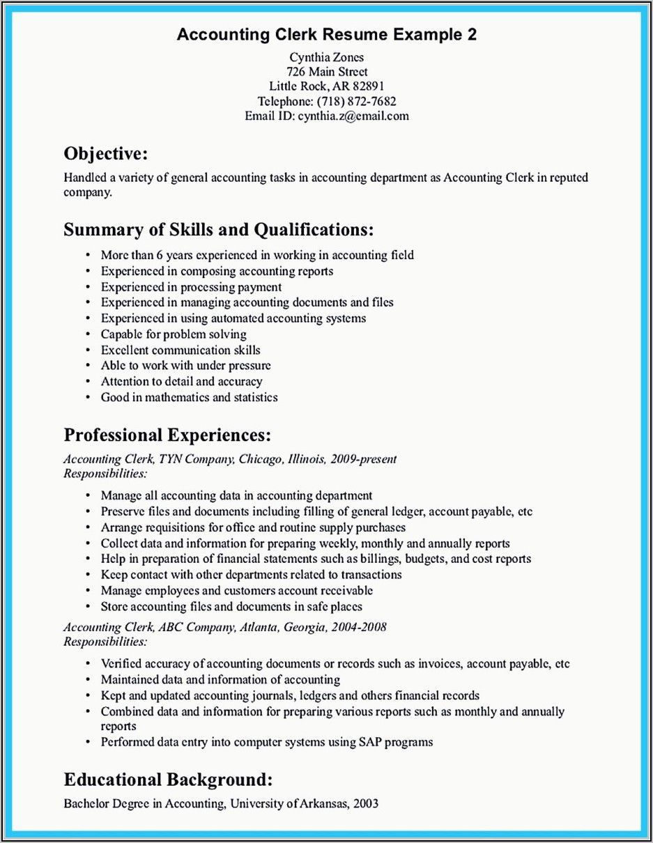 Accounts Payable Resume Examples In 2021 Resume Examples Job Resume Samples Job Resume