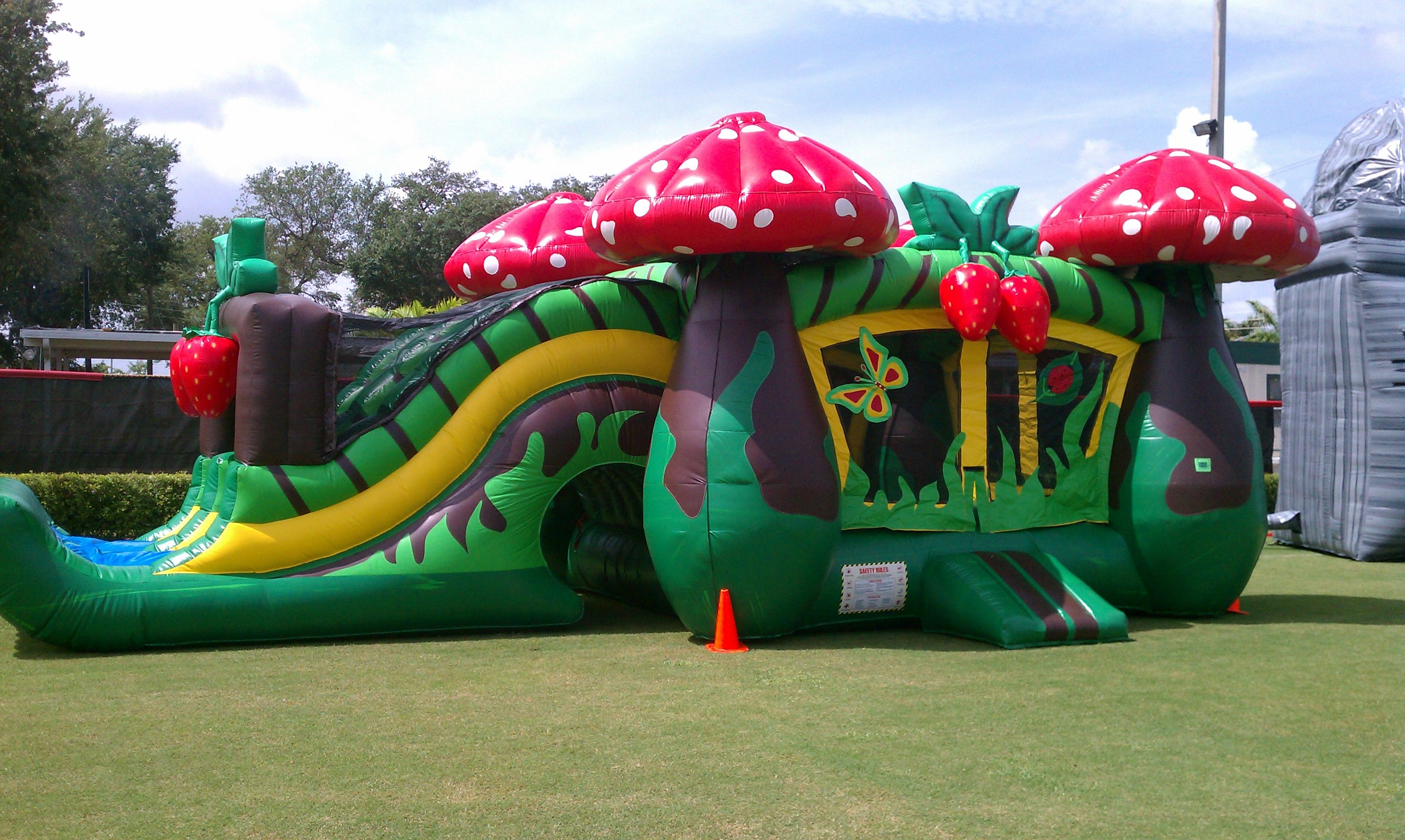 strawberry bounce house inflatable bounce climb and slide - Inflatable Bounce House