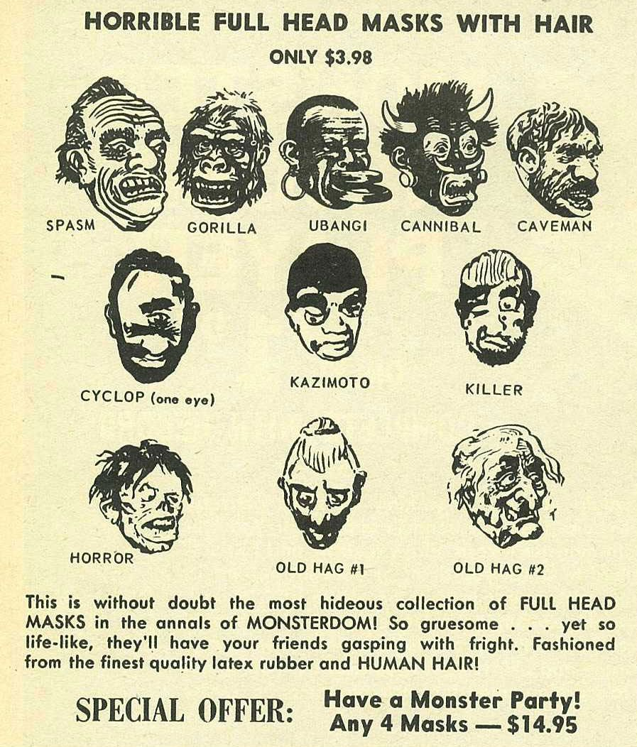retro halloween mask ads (click through) | Oddities | Pinterest ...