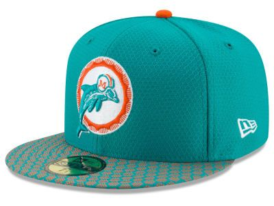Miami Dolphins New Era 2017 Official NFL Sideline 59FIFTY Cap ... dc863b4a0