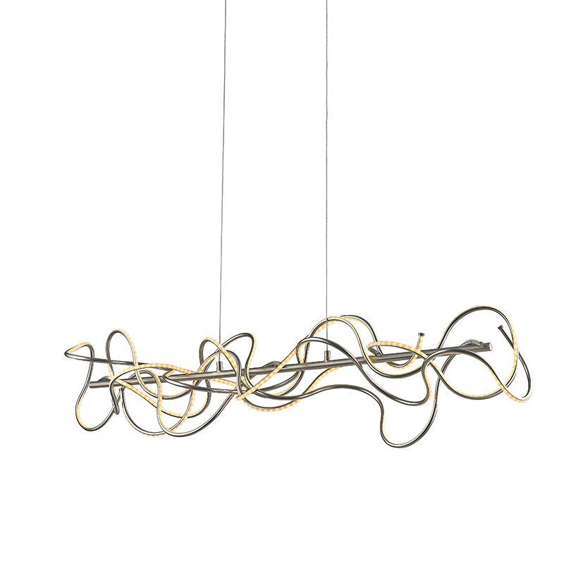 Moderne Pendelleuchte stahl inkl LED - Jona Jetzt bestellen unter