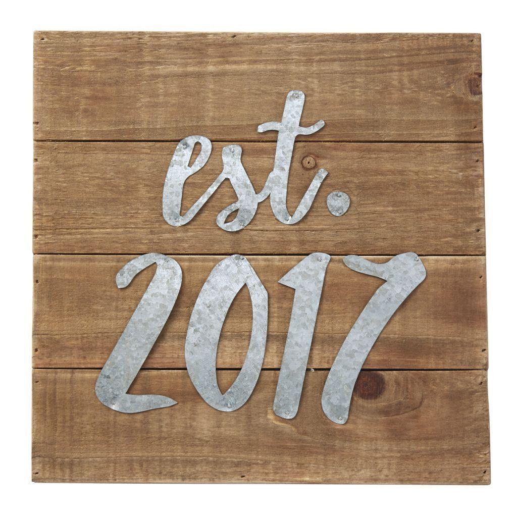 Est 2017 Plaque