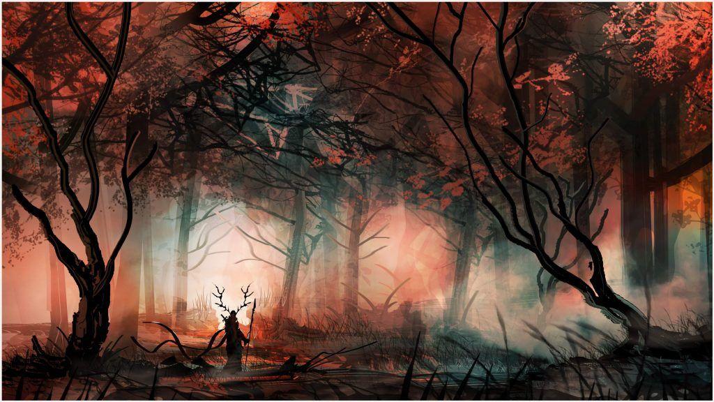 Fantasy Painting Of Fantasy Forest 4k Wallpaper Fantasy Painting Of Fantasy Forest 4k W Pinturas De Fantasia Bosque De La Fantasia Fondos De Pantalla Bosques