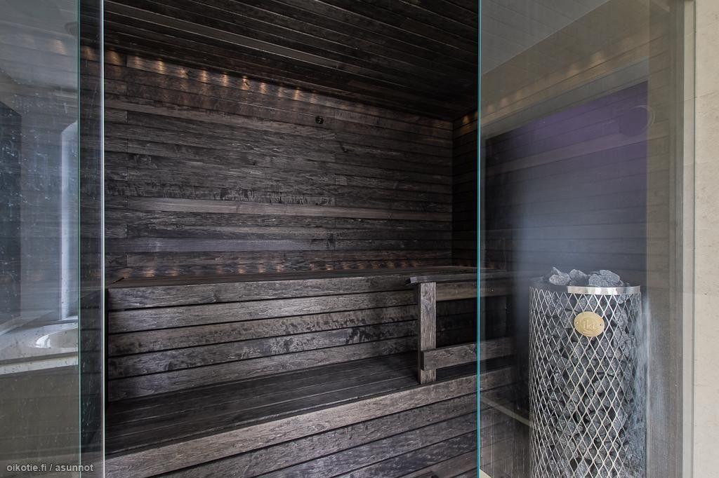 Dark Finnish Sauna