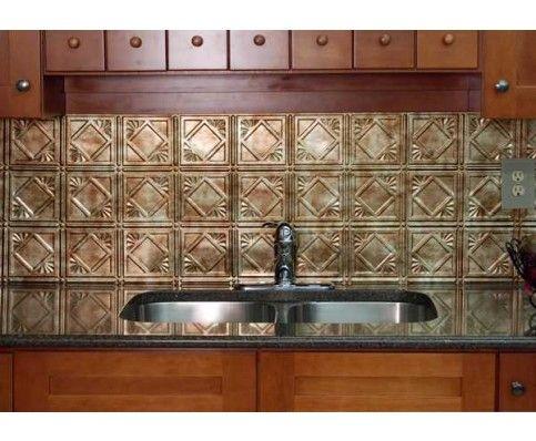 New! #backsplashes for kitchen or bath http://www.cshardware.com/18-x-24-charleston-backsplash-bermuda-bronze.html