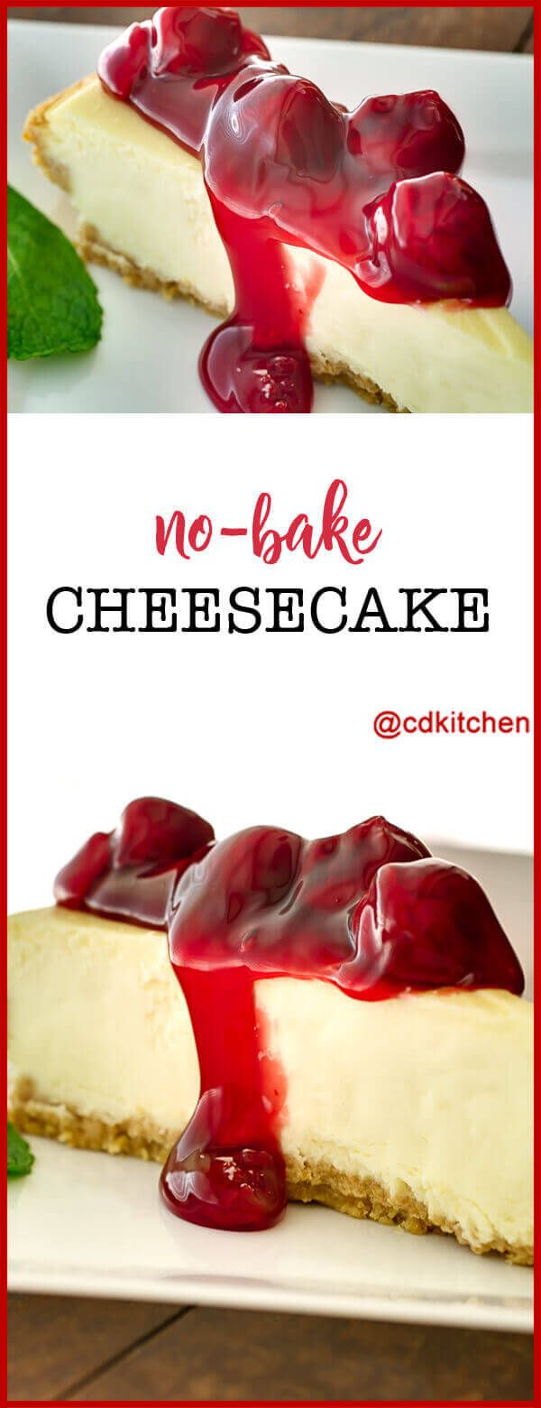 No-Bake Cheesecake Recipe | CDKitchen.com
