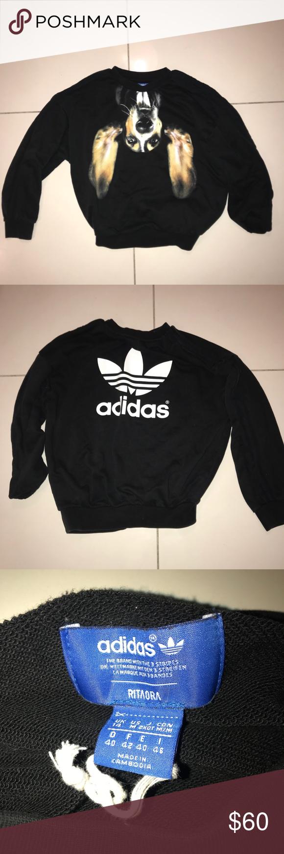 Adidas X Rita Ora Women S Basset Dog Sweatshirt Sweatshirts Clothes Design Dog Sweatshirt [ 1740 x 580 Pixel ]