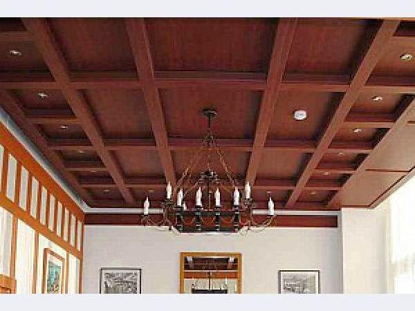 14 gypsum false ceiling design with wooden decorations for living room 2015 - 14 Gypsum False Ceiling Design With Wooden Decorations For Living