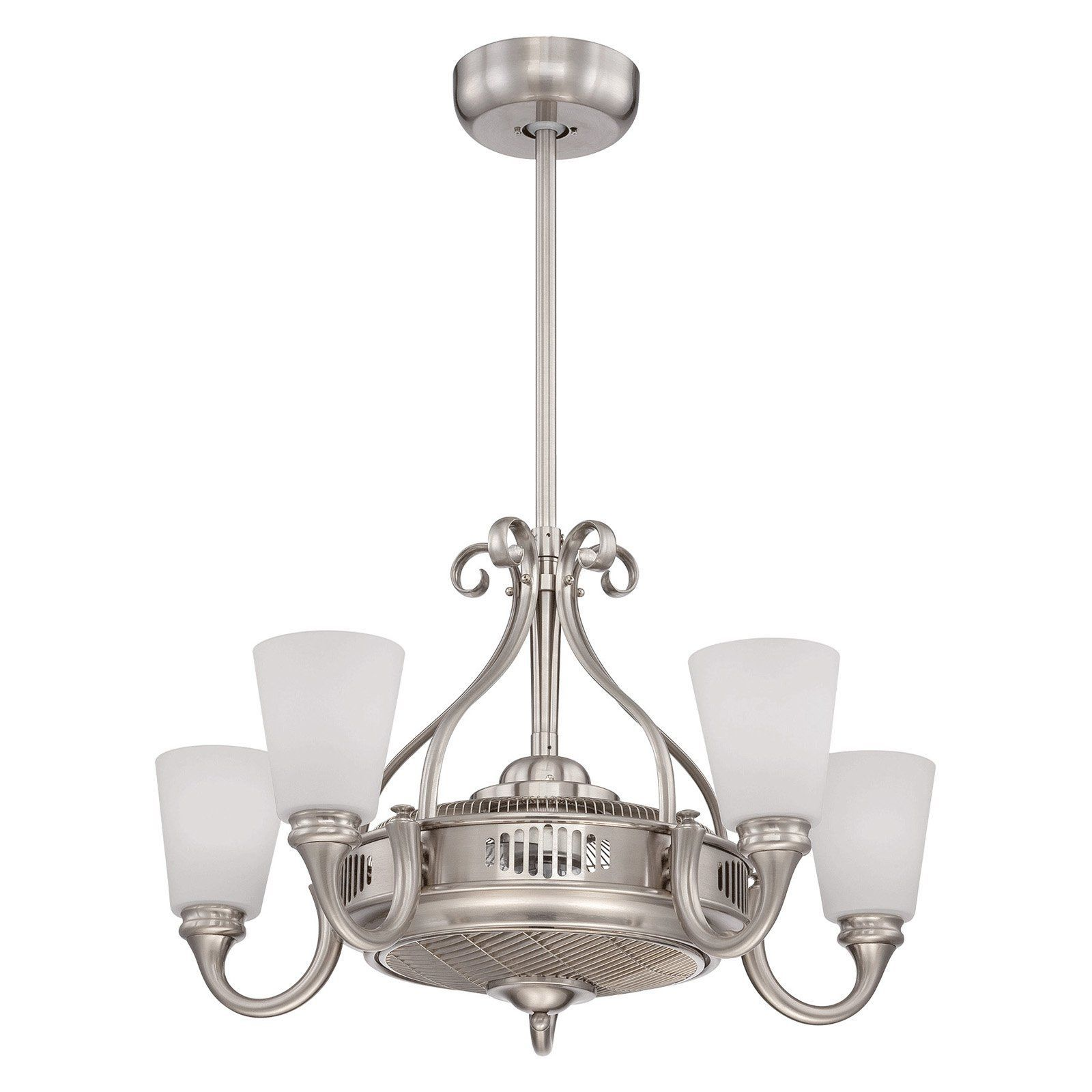 A ceiling pendant lamp turned upside down! This retro