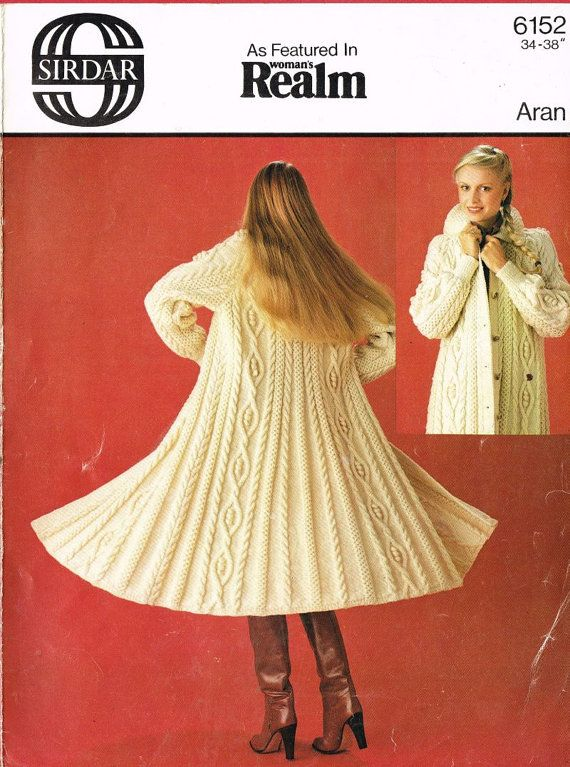 Sirdar 6152 ladies aran swing coat vintage knitting by Ellisadine ...