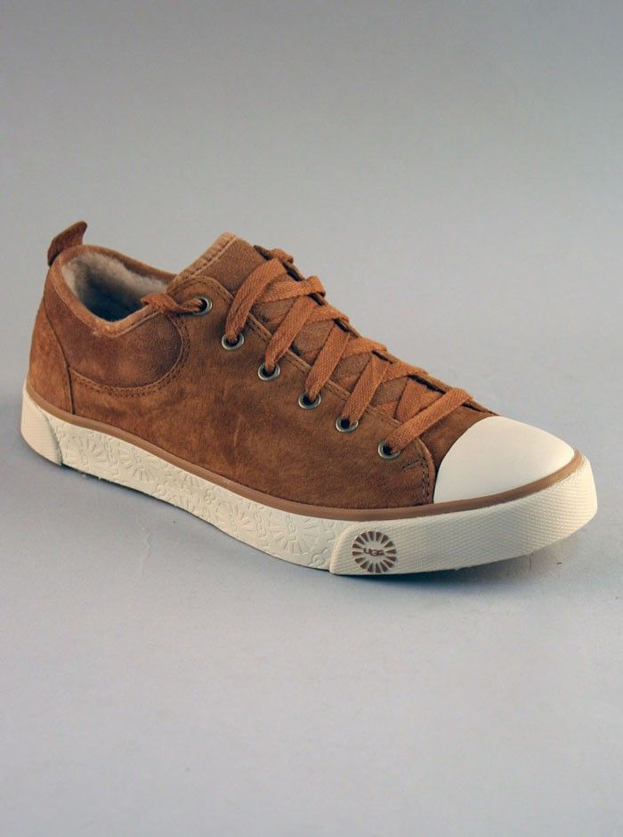 UGG® Evera Women's Athletic Clothes Shoes In Chestnut.  Evera by UGG is a casual lace up sneaker shoes for women with rubber toe cap. Contrasting material and leather helps make these a stylish yet comfortable must have!    SKU: 1888-CHESTNUT SUEDE        Lace up      Metal eyelets & cotton laces      Over 5mm of molded EVA with arch support for extra comfort      Gum rubber outsole with a molded UGG Sun logo pattern      Suede upper€¨      Fully leather lined      Synthetic sole      Rubber…
