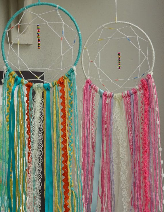 Dream Catcher Kit Boho Craft Kit For Adults Blue Pink Simple Dream Catcher Kits Supplies