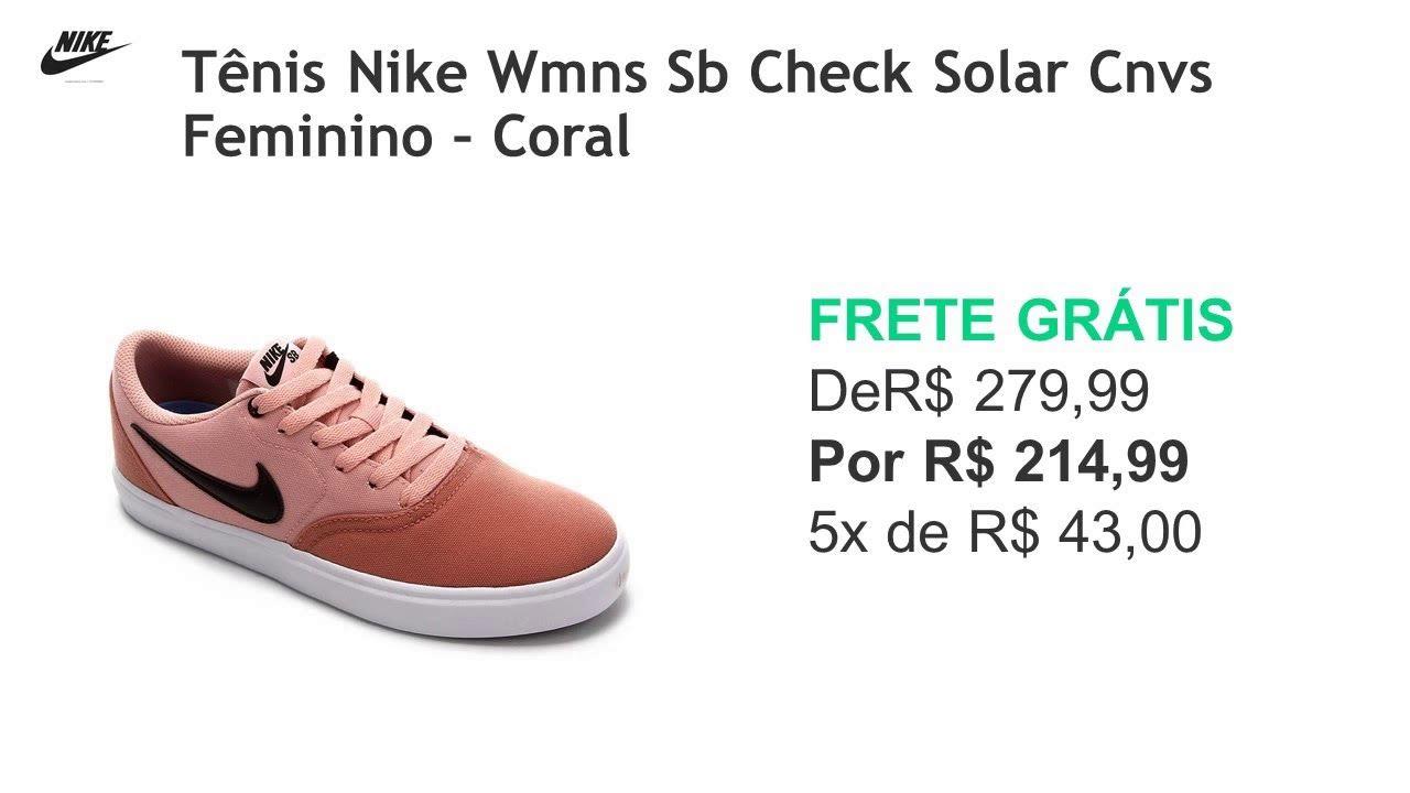Tenis Nike Sb Check Solar Cnvs Masculino Marinho E Branco Tenis Nike Tenis Nike Sb Check Nike Sb