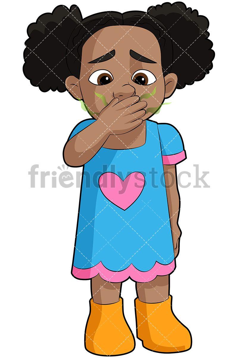 Black Girl With Stinky Breath Cartoon Clip Art Cartoon Girl