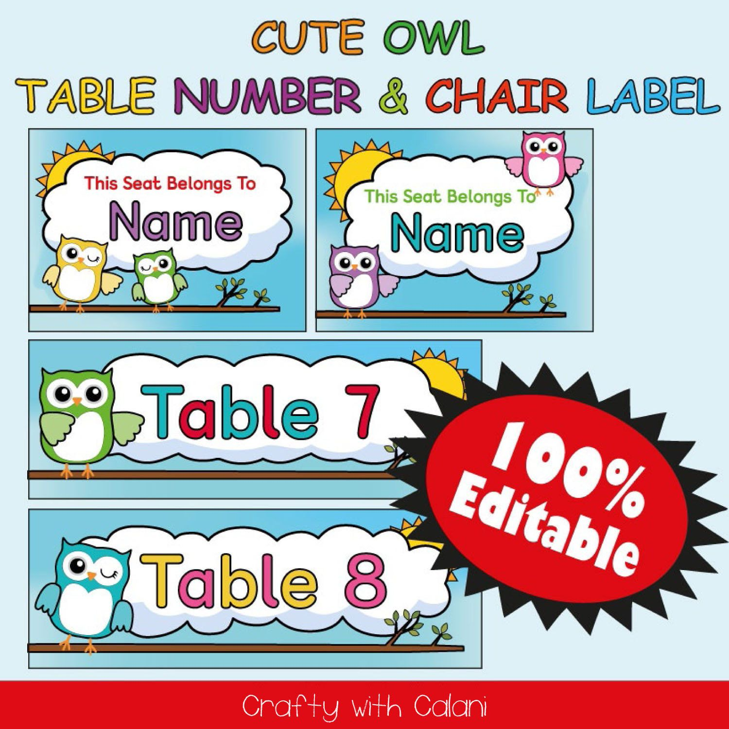 Classroom Table And Chair Labels Cute Owl Theme Classroom Classroom Table Number Template Chair Labels Template Owl Labels Printable Owl Theme Classroom Owl Labels Classroom Themes