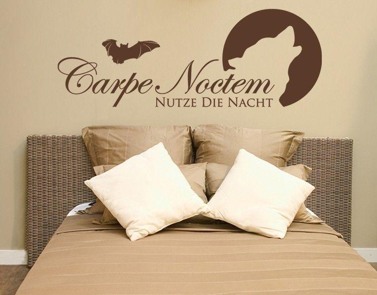 Schlafzimmer Wandtattoo ~ Carpe noctem nutze die nacht wandtattoo schlafzimmer