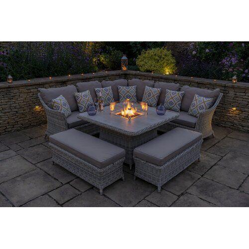 Ridgemoor 9 Seater Rattan Corner Sofa Set Sol 72 Outdoor in ...