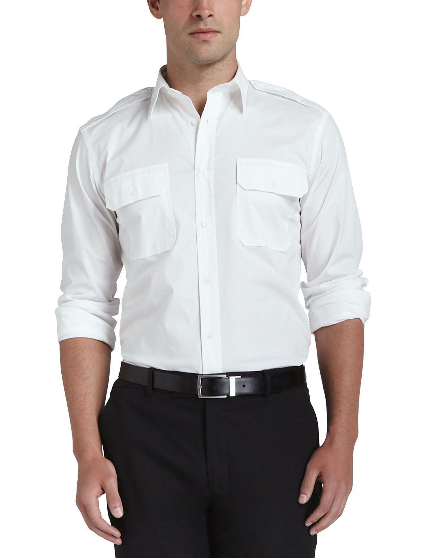 744d9931 Two-Pocket Military Shirt, Women's, Size: SMALL, Black - Ralph Lauren Black  Label