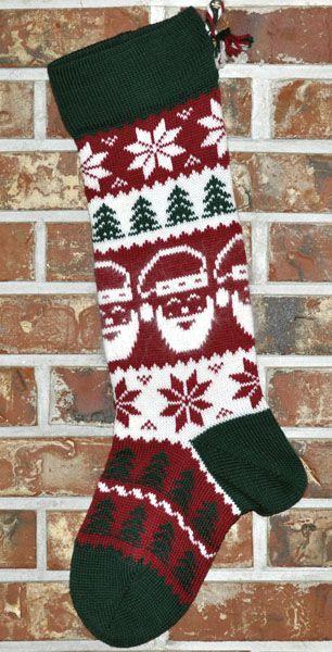 Christmas Stocking Knitting Pattern Google Search Christmas